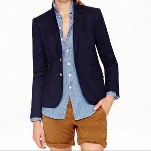 J. CREW Schoolboy Jacket in Navy Wool Blend